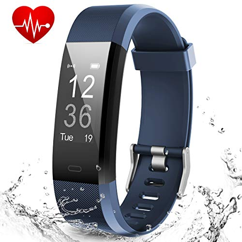 MUZILI Smart Fitness Band Activity Tracker with Heart Rate Monitor, Sleep Monitor Activity Band, Fitness Tracker with 14 Exercise Modes, USB Quick Charge for Android and iOS Smart Phones