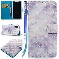 EUWLY Leder Schutzhülle für [iPhone X], Luxus Schön 3D Shiny Hülle Leder Tasche Wallet Hülle Schutz Handyhülle... - preisvergleich