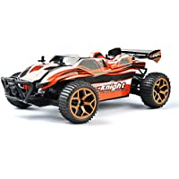 GizmoVine RC Auto 4WD Alta Velocità, Scala 1:18, telecomando a 2.4Ghz Maggiolino Elettrico da Corsa, Vehicle con Batteria Ricaricabile - Arancione