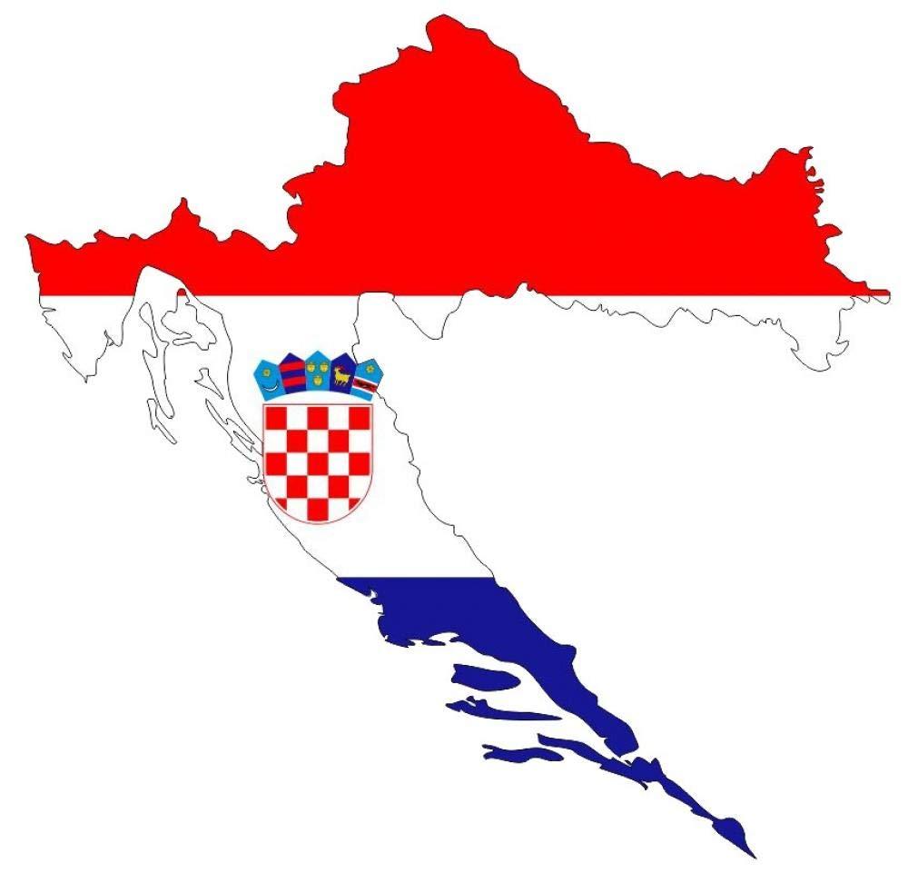 Samunshi® Kroatien Wandtattoo Nationalfarben Flagge Fahne in 4 Größen (30x29cm)