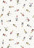 Gnome Stoff–Zwerge Off Weiß–lew292–von