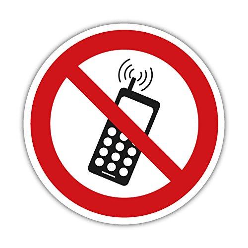 Handyverbot Aufkleber, Warnzeichen, Verbotsschild 20cm