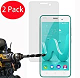 2 Pack - Wiko Jerry Verre Trempé, FoneExpert® Vitre Protection Film de protecteur d'écran Glass Film Tempered Glass Screen Protector Pour Wiko Jerry