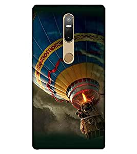 Takkloo Fire Balloon ( Balloon flying in the sky, colourful Balloon, Cloud in the sky) Printed Designer Back Case Cover for Lenovo Phab2