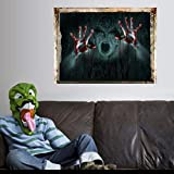 Doubleer Halloween Removable Scary Wall Stickers Ghost Wall Stickers Art Decor Vinyl Decals Room Mural