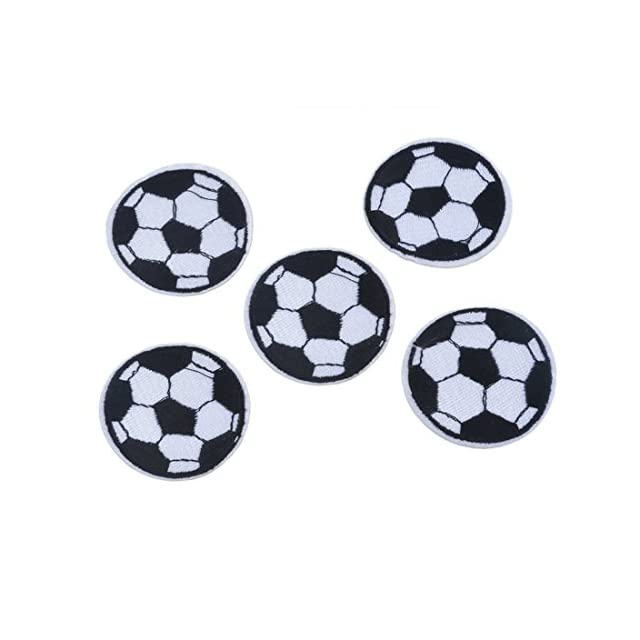 Patch ecusson brode applique ballon de foot football thermocollant a coudre