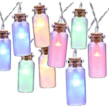 8 modos Vintage Cristal LED Cadenas de luz funciona con 30 ledes multicolor 9 ft Navidad iluminación de Oak Leaf exterior Iluminación para exterior, iluminación interior, Jardín, bodas, fiestas