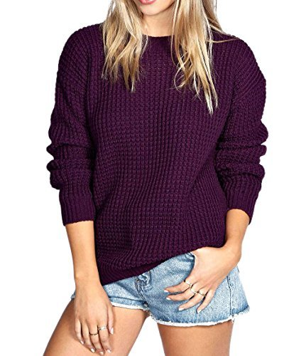 Made by Blush Avenue® Womens Ladies Oversized Baggy Long Thick Knitted Plain Chunky Top Sweater Jumper S-XL Test