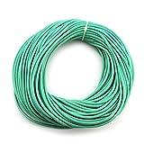 RUBY-Cuerda de piel redonda 3 mm 23m Cordón Cuero para Collar Pulsera Abalorios Bisutería (Turquesa)