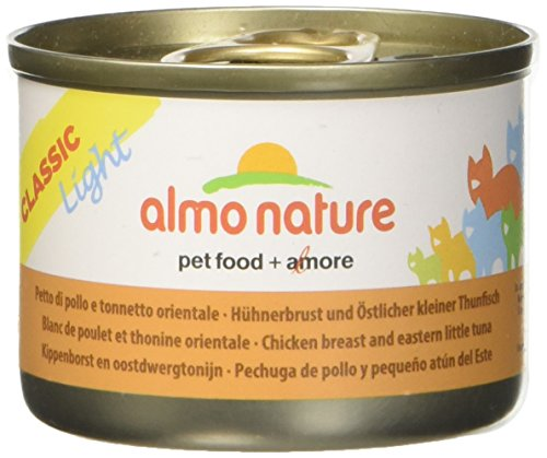 almo nature Light con Petto di Pollo e Tonnetto Orientale Umido Gatto 100% Naturale - 16 Set da 3x50 g