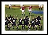 Framed British & Irish Lions Face the Haka Rugby Photo Memorabilia