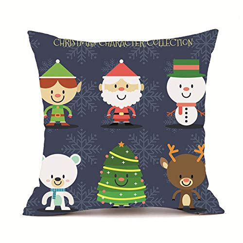 UYSDF Fashion Pillowcase 45 * 45 cm,Merry Christmas Pillow Cases Super Cashmere Sofa Cushion Cover Home Decor