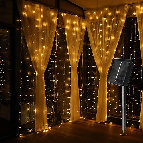 MagicLux Tech 300 LED Cortina solar Luces cadena 8