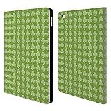 Head Case Designs Offizielle PLdesign Kleeblatt Klee Ferien Und Festtage Brieftasche Handyhülle aus Leder für iPad Air 2 (2014)