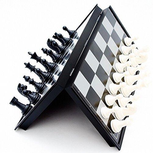 Blanketswarm Magnetisches Falten Schach-Set Tragbares Brettspiel für Kinder Erwachsene 20 x 20cm