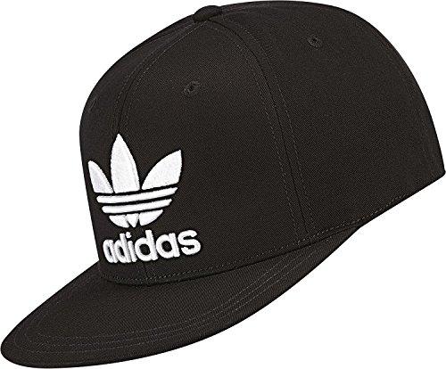 adidas Herren Kappe Flache Trefoil, Black/White, OSFM, S95077