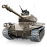 DUCKTOYS U.S.A M41 RC Tank mit Fernbedienung, Licht & Sound & Drehen Turret und Recoil Action,2.4GHz Multinfrequenz 1:16 rc Tank