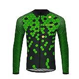 Uglyfrog HLDT06 Bike Wear Herren Langarm, Thermo-Fahrrad-Jersey, Lycra Selected Fabrics, Thermo Fleece Trikots & Shirts