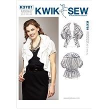 McCall Pattern Company K3781 Kwik Sew - Cartamodello per giacca increspata Bolero, taglie XS, S, M, L, XL, confezione da 1, colore: Bianco