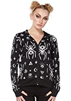 Jawbreaker - Women's Spider Skull Occult Symbols Black Hoodie