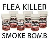 Pest Direct 6 x Professional Strength Flea Insect Killer Smoke Bomb Fogger Pet