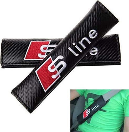 Quattro A3 A4 A5 A6 RS6 TT 2 pc Sport in fibra di carbonio auto Seatbelt copertura Spalla Pads per Sline