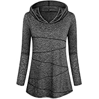 Hanomes Damen pullover, Damen Fahsion Bluse mit Langen Ärmeln Yoga Tops Activewear Lauftraining T-Shirt preisvergleich bei billige-tabletten.eu