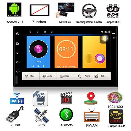 7 'Android Haupteinheit In Dash Doppel 2 din Auto Stereo GPS Navigation Empfänger Keine DVD CD Auto Unterhaltung Multimedia Radio (Surfen Technik)