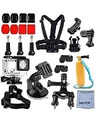 Xiaomi Yi 2/4K Accessories Kit,Niutop Xiaoyi 4K II Waterproof boîtier + Tête Sangle + Chest Harnais + Voiture Succion cup +vélo guidon Monter+ Floaty Handle Action Caméra Entrée Kit