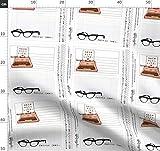 Quilt Label, Nerd, Brille, Schreibmaschine, Stoffe -