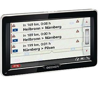Becker Professional 70 LMU Navigationssystem (17,8 cm (7 Zoll) Echtglasdisplay, Kartenmaterial für 47 Länder, Lebenslange Kartenupdate, micro-USB Anschluss, Höhenprofil Funktion, WiFi, Sprachsteuerung) schwarz