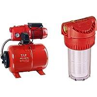 T.I.P. 30187 Hauswasserwerk HWW G-1000 Plus & Vorfilter für Garten Pumpen und Hauswasserwerke 17,8 cm (7 Zoll…