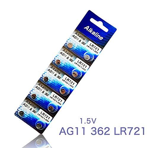 Bestomrogh 10 Alkaline-Batterien 1,5 V, AG11 LR721, Knopfzelle