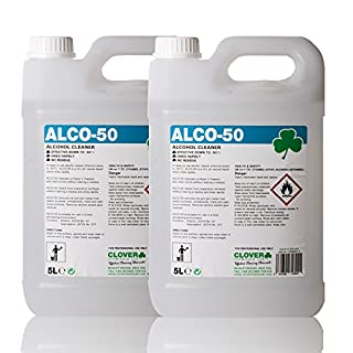 The Chemical Hut® Alco-50 Alcohol Rapid Dry Effective in -50°C Food Preparation Ink Stain & Glue Remover Surface Cleaner 10L - Comes Anti-Bacterial Pen!