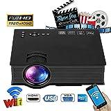 Konnison-1 Multimedia HD LED Mini Projector - Vidéo pour projecteur de fête, cinéma Maison, Divertissement, TV, Ordinateur Portable, Jeu, Smartphone