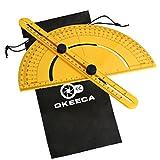OKEECA ABS multi-angolo pinza strumento di misurazione righello pieghevole per Handymen Builders craftsmen-orange, Protractor