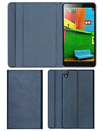 """Acm Imported Designer Tri-Fold Flip Case for Lenovo Phab 6.98"""" Tablet Cover Royal Grey"""