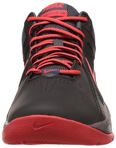 Nike The Overplay Viii 637382 Unisex Basketballschuhe Black/Bright Crimson/Dark Grey