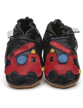 Zapatos para bebé (piel de Luxe de camión de bomberos