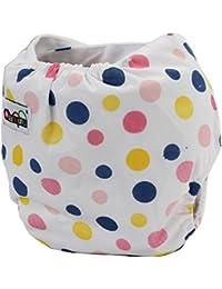Pinzhi - Couche Culotte en Tissu Réglable Réutilisable pour Bébé 0-36 Mois