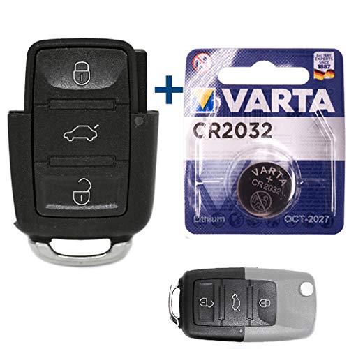 VW Repair Kit di riparazione auto chiave di ricambio alloggiamento con 3 tasti + batteria per VW Polo 9N Bettle 9C Passat B5 EOS 1F Touran 1T