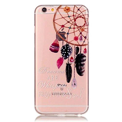 Apple iPhone 7 4.7 pollice Custodia in Pelle ,Feeltech iPhone SE/5S/5 Ultra Sottile Crystal Clear Copertura in Silicone Alta Qualità Colorful Design Pattern Jelly Protective Flessibile Soft Shell di T Colorato Dream Catcher