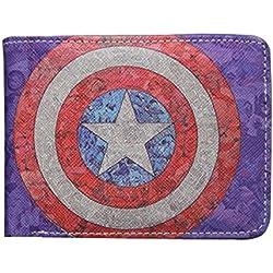 Cartera Billetera de Capitan América Clásico Marvel Azul