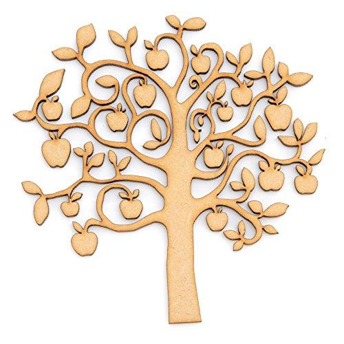 Apfelbaum-Form aus MDF-Holz, als Familienstammbaum geeignet Apfelbaum aus MDF-Holz, in 4 Größen erhältlich., MDF, Wooden, MDF, 250mm
