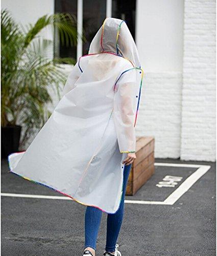 Adulte Raincoat Alpinisme extérieur Marche Tourisme Transparent Waterproof Homme Femme Longue Section Siamese Raincoat À pied non-jetable Poncho Veste imperméable ( couleur : Gray , taille : L ) Blanc