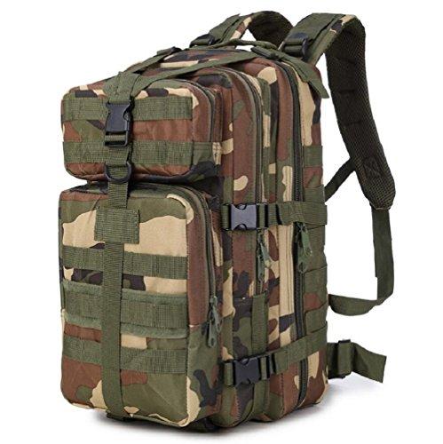 Z&N Tifosi militari nylon impermeabile zaino tattico attacco militare spalle all'aperto zaino montagna borsa impermeabile camouflage grande capacità 33L traspirante resistente leggeroKhaki33L jungle