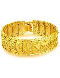 1aa1802ba757 OPK Pulsera Hombre Joyería de Moda de 18K Chapado en Oro Compromiso de Boda  18K Amarillo Oro Cadena Diamante Corte Cara…