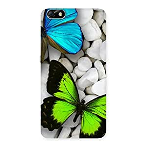 Blue and Green Butterfly Back Case Cover for Honor 4X