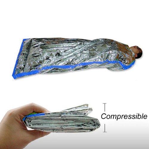Hrph Neue Notfallwiederverwendbare Wasserdichtes Rettungsraum Thermal Schlafsack 100x200cm (Folien-schlafsack)
