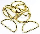 D-Ringe 10 Stück Farbe: Gold, 50x27x3,5mm Halbrundringe Stahl